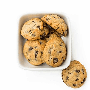 Foto Mini chocolate chip cookies