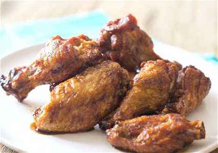Foto Chicken wings naturel menu