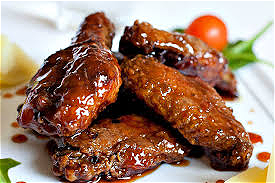 Foto Sticky wings hot menu